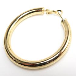 フープ リングピアス(50mm)(真鍮ブラス・ゴールドカラー)(1ペア)