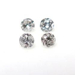天然石ルース(裸石) ホワイトダイヤモンド【VVS-VS(TOP QUALITY)】F-Gカラー(アフリカ産・無処理)/ラウンド【1.9mm】ダイヤモンドカット(1個)