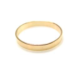 14kgfフラットリング(指輪)(サイズ目安:9号)「ゴールドフィルド」(1個)