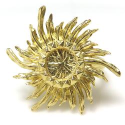 太陽 リング ピラミッド サン 指輪 6mm空枠(カボション用)真鍮ブラス・ゴールドカラー(2個)