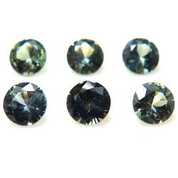 天然石ルース(裸石)グリーンサファイア(非加熱)セイロン・スリランカ/ラウンド【3.8mm】ダイヤモンドカット(1個)