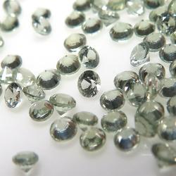 天然石ルース(裸石)・グリーンサファイア(加熱処理)スリランカ・セイロン/ラウンド【2mm】ダイヤモンドカット(6個)