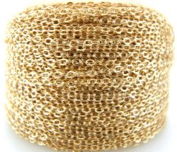 ゴールドフィルド・平アズキチェーン(1.1mm)30メートル「14kgf」(1本)