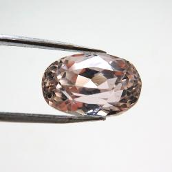 天然石ルース(裸石)クンツァイト(非加熱・ブラジル産)オーバル【12.13×7.80×8.46mm】ファセットカット(1個)