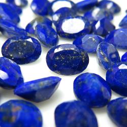 天然石ルース(裸石)・ラピス(ラピスラズリ)オーバル【7×5mm】ファセットカット(4個)