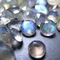 天然石ルース(裸石)・ラブラドライト/ラウンド【6mm】ファセットカット(10個)