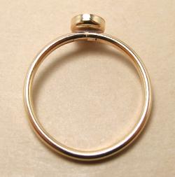 ゴールドフィルド14kgfリング・指輪パーツ(カボション・ミール皿ラウンド・4mm)(サイズ目安13号)「14kgf」(1個)