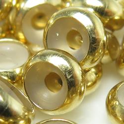 14kgfパーツ ストッパービーズ 2.3×5.0mm(穴のサイズ:目安1.5mm) ゴールドフィルド(8個)