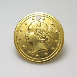 コイン ペンダント チャーム(アンティーク/ビンテージ調)(19mm)【VC-13】(真鍮ブラスカラー)(500個)
