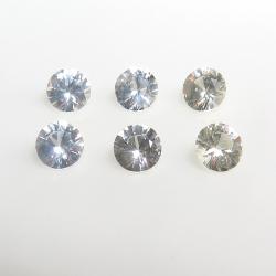 天然石ルース(裸石)・ホワイトサファイア(スリランカ産・非加熱)/ラウンド【4mm】ダイヤモンドカット(25個)
