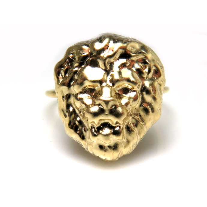 モチーフリング(14kgf指輪)(ライオン)(サイズ目安:10号)「ゴールドフィルド」(10個)