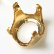 14kgf空枠 石枠 オーバル 4本爪(10×8mm)ゴールドフィルド(1個)