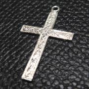 クロス チャーム 十字架  パーツ シルバー SV925 25mm×15mm (1個)