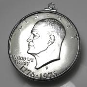コインペンダント・アメリカ 建国200年記念 1ドル 銀品位:400/ダラー バチカン付「SV925」(1個)
