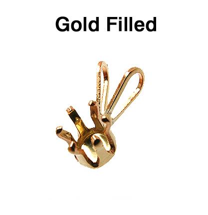 ゴールドフィルド・ペンダント空枠・6本爪ペンダントトップ(ラウンド4mm【A】)「14kgf」(2個)