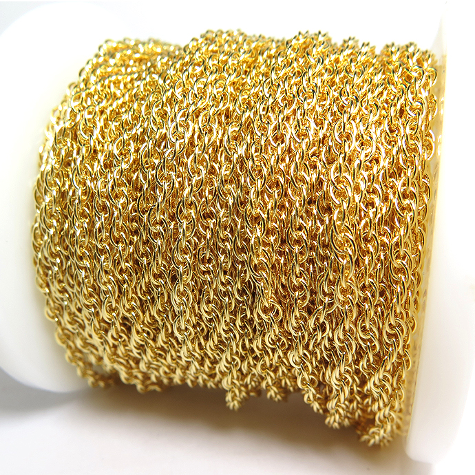 14kgfチェーン ロープ 2.5mm  ゴールドフィルド 10センチ 1本