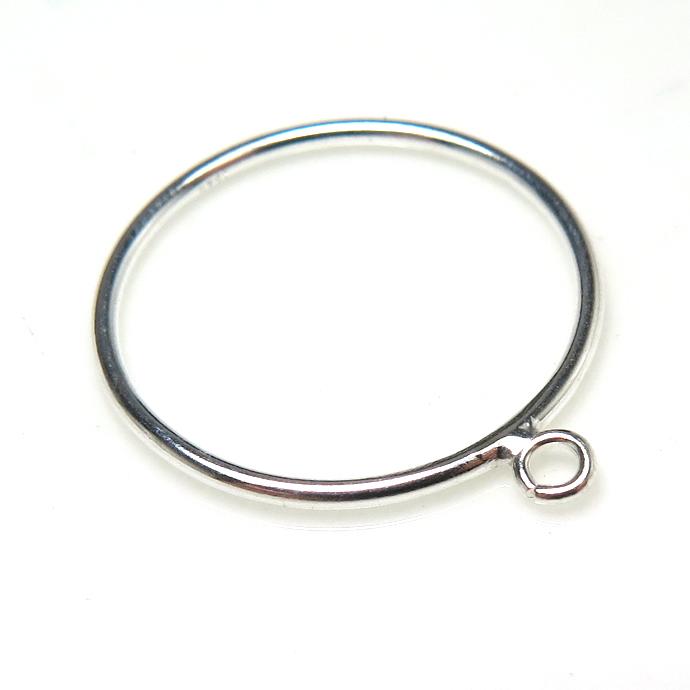 シルバーリングパーツ(指輪)カン付き「SV925」(サイズ目安:13号)(2個)