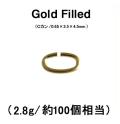 Cカン(オーバルカン)「14kgf・ゴールドフィルド」【0.65mm】(2.8g/約100個相当)