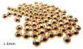ゴールドフィルド・ラウンドビーズ 3mm(穴のサイズ:1.5mm) (スムース/シームレス)「14kgf」(50個)