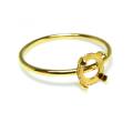 リングパーツ(指輪)4本爪カボション空枠5mm(ラウンド)(サイズ目安:11号)「14kgf(ゴールドフィルド)」(1個)