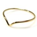 シェブロンリング(指輪)14kgfパーツ ゴールドフィルド (サイズ目安:9号)(1個)
