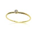 人工ダイヤモンド類似石・合成モアッサナイト リング指輪テクスチャー 2mm 【AAA】 D~Fカラー 「14kgf ゴールドフィルド」