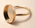 14kgfリング・指輪パーツ(カボション・オーバル14×10mm)(サイズ目安7号)「ゴールドフィルド」(1個)