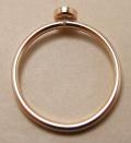 ゴールドフィルド14kgfリング・指輪パーツ(カボション・ラウンド・4mm)(サイズ目安10〜11号)「14kgf」(1個)