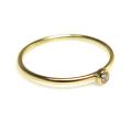 人工ダイヤモンド類似石・合成モアッサナイト リング 指輪 2mm 【AAA】 D~Fカラー 「14kgf ゴールドフィルド」
