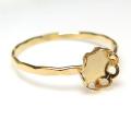 14kgf 指輪 ハンマード リング フラワー 花形 カボション ラウンド5mm ゴールドフィルド (サイズ目安:9号) 1個