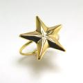 モチーフリング(14kgf指輪)(スター15mm)(サイズ目安:10号)「ゴールドフィルド」(1個)