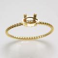 14kgf マーキス リング 指輪 ツイスト 空枠 6×3mm 4本爪 ゴールドフィルド (サイズ目安:9号) 1個