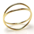 ウェーブリング 14kgf指輪(サイズ目安:10~11号)ゴールドフィルド(1個)