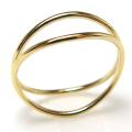 ウェーブリング 14kgf指輪(サイズ目安:8号)ゴールドフィルド(1個)