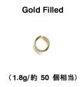 丸カン(オープン)【4mm×0.7mm】(1.8g/約50個相当)「14kgf(ゴールドフィルド)」