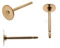 皿付ピアスポスト・平皿タイプ【6mm】「14kgf(ゴールドフィルド)」(5ペア/10個)