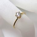 人工ダイヤモンド類似石・ 合成モアッサナイト 【AAA】 D~Fカラー リング指輪 4mm 「14kgf ゴールドフィルド」