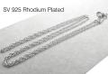 シルバー925ロジウムプレーテッド/チェーンネックレス40cm【ロープチェーン・幅1.1mm】(25本)