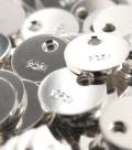 シルバー タグ 板カン クオリティー パーツ 刻印 SV925(4mmラウンド) 1ホール(20個)