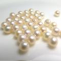 淡水パールルース(裸石)(淡水真珠)(ラウンド/4〜4.5mm)(片穴)(2個)