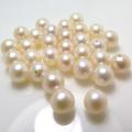 淡水パールルース(裸石)(淡水真珠)(ラウンド/6〜6.5mm)(片穴)(1個)