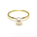 14kgf淡水パール指輪(真珠)リング4〜4.5mm(ラウンド)(サイズ目安:7号)「ゴールドフィルド」(1個)