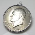 コインペンダント・アメリカ 建国200年記念 1ドル白銅貨/ダラー バチカン付「SV925」(1個)