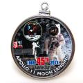 APOLLO11号 アポロ月面着陸 45周年記念 コイン ペンダント・アメリカ ケネディハーフダラー(50セント) バチカン付「シルバーSV925」(1個)