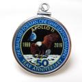アポロ11号 APOLLO 月面着陸 50周年記念 コインペンダント・アメリカ クオーター(25セント)バチカン付「シルバーSV925」(【B】1個)