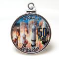 アポロ11号 APOLLO 月面着陸 50周年記念 コインペンダント・アメリカ クオーター(25セント)バチカン付「シルバーSV925」(【A】1個)