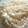 淡水パール真珠ビーズ(ホワイト系)/バロックパール 8~9mm(25連)
