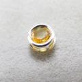 シルバー925/天然石シトリン<11月誕生石>(4mm)ベゼル「sv925」(1個)