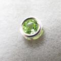 シルバー925/天然石ペリドット<8月誕生石>(4mm)ベゼル「sv925」(1個)