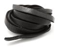 ディアスキンレース(鹿革レース/平紐)ブラック9.5mm×180センチ(1本)